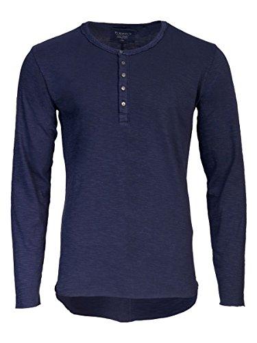TREVOR'S KJELL Langarmshirt mit Knopfleiste für Herren - midnight