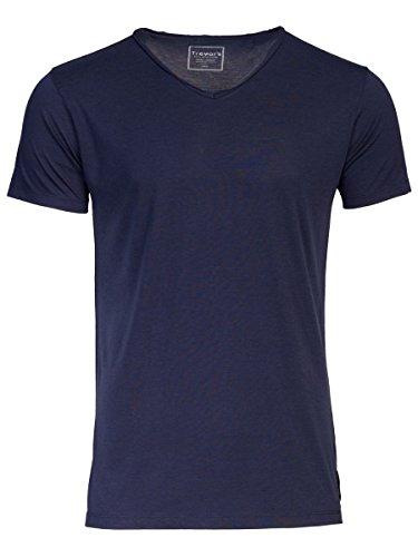 TREVOR'S KENO Herren T-Shirt mit V-Ausschnitt - midnight