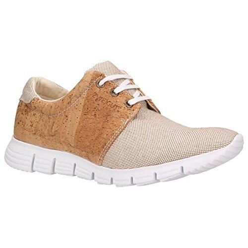 ZWEIGUT® echt #408 Unisex Kork-Sneaker mit flexibler Laufsohle - beige-kork