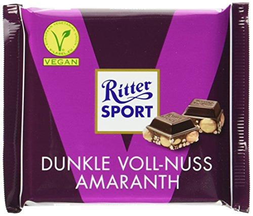 Ritter SPORT Dunkle Voll-Nuss Amaranth (10 x 100 g) - vegane Schokolade