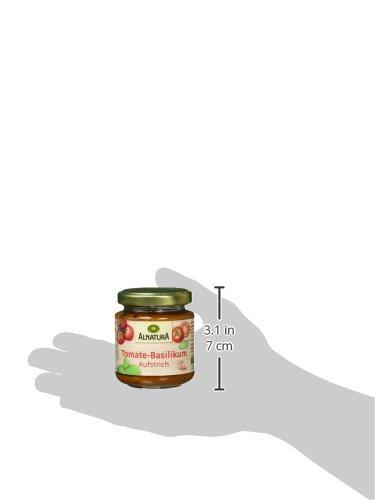 Alnatura Bio Brotaufstrich Tomate-Basilikum, vegan, 6er Pack (6 x 110 g) - 6