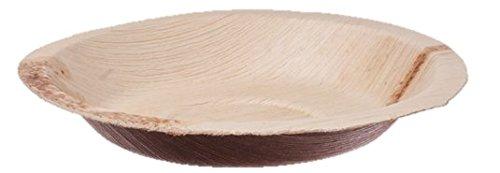 Teller rund, Palmblattgeschirr, 100 Stk, biologisch abbaubar, umweltfreundlich, Durchmesser 18cm