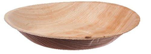 Runde Schüssel aus Palmblatt -100 Stk - Durchmesser 20 cm
