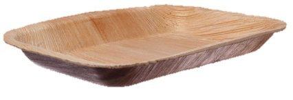 Teller eckig, Palmblattgeschirr, 100 Stk, biologisch abbaubar - 16x24cm