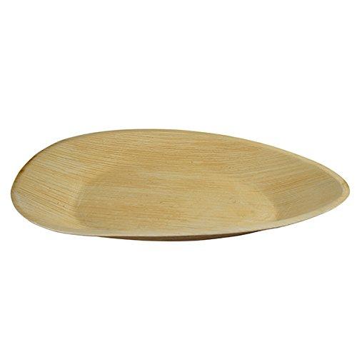 """""""Tri"""" Platte aus Palmblattschalen 26 x 17 cm"""