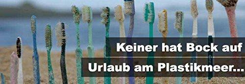 Madhu Bambus Zahnbürste im 4er-Set – vegan und biologisch abbaubare Holz Zahnbürste mit Naturborsten - 7