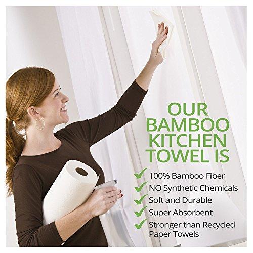1x Bambus Küchenrolle – waschbare & wiederverwendbare Bambustücher, Haushaltstücher & Putzlappen zum z.B. Staub wischen – ersetzen Papiertücher - 5