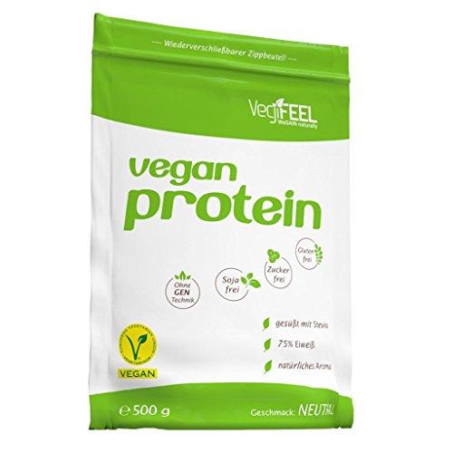 VegiFeel Vegan Protein, 500g Zip-Beutel , Schoko (3er Pack)