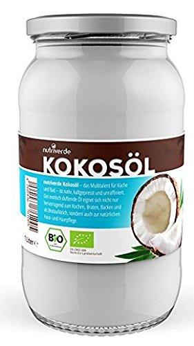 Nutriverde BIO Kokosöl im wiederverschliessbarem Glas - 1 Liter