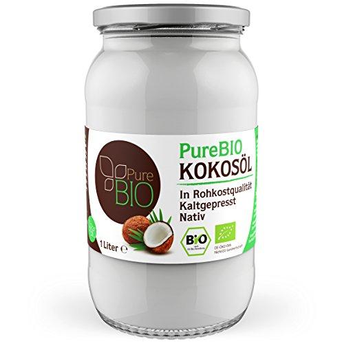 PureBIO Kokosöl nativ und kaltgepresst - 1 Liter