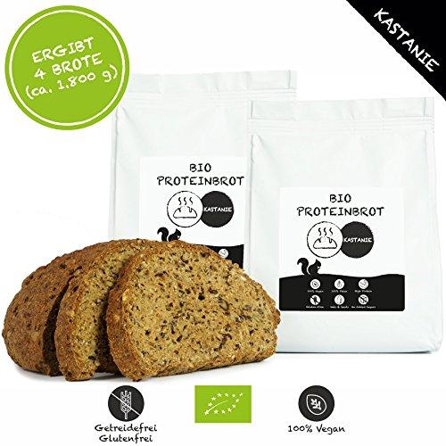 PALEO Brot-Backmischung Kastanie: BIO - 20% Eiweiß - von Paleo To Go