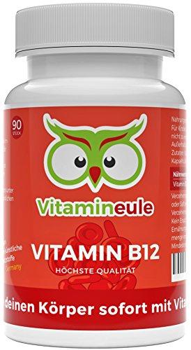 Vitamin B12 Kapseln 1000mcg Methylcobalamin von Vitamineule® - vegan