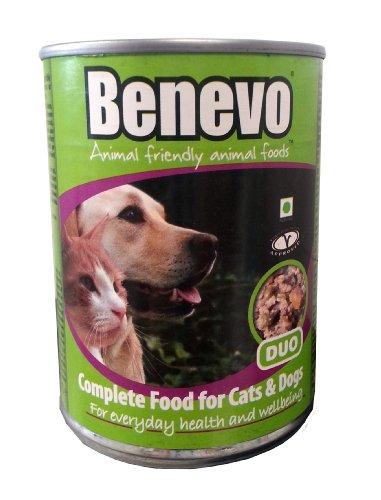 Benevo Bio Hunde- & Katzenfutter Duo - Veganes Feuchtfutter - 6 x 369g