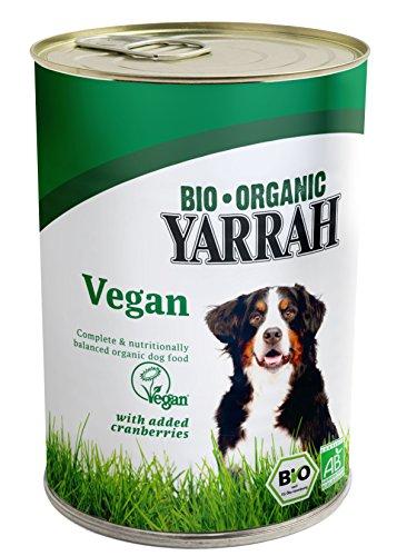 Yarrah Bio Hundefutter Vega, Getreidefrei mit Cranberries - 12 x 380g