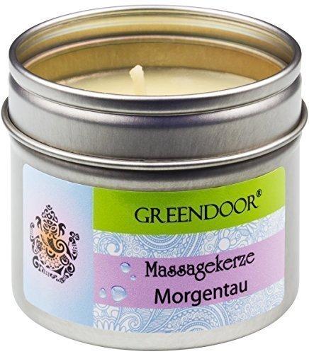 Greendoor BIO Massagekerze Morgentau - BIO Sojawachs & BIO Babassuöl - 100ml