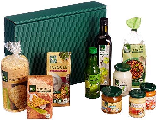 biozentrale vegane Geschenkbox / Geschenkidee - enthält 10 BIO-Produkte