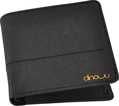 clinowu - veganes unisex Portemonnaie im Querformat aus Kraftpapier - RFID-Blocker eingebaut