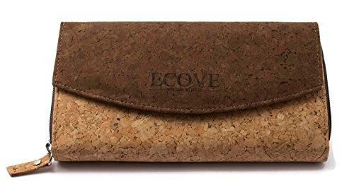 ECOVE - hochwertiges Damen-Portemonnaie aus Kork mit über 14 Fächern - 20cm x 11cm