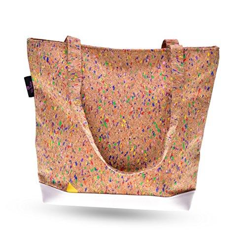 lila Tulpe - Schultertasche Ruby - hochwertige Damen-Handtasche mit Reißverschluss - aus Kork
