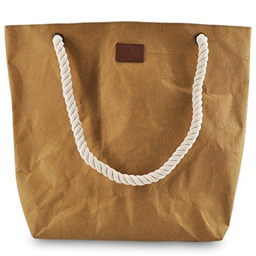 lila Tulpe - Shopper Holly - hochwertige Damen-Einkaufstasche aus waschbaren Papier mit Lederoptik