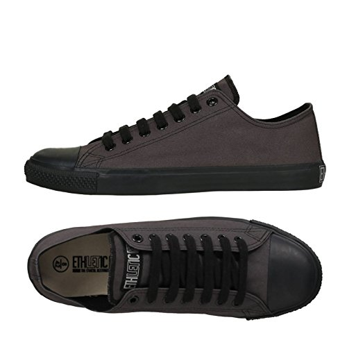 Ethletic Black Cap Vegan LoCut - zinngrau / schwarz - low sneaker