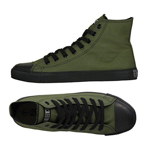 Ethletic Black Cap HiCut / High-Sneaker aus Bio-Baumwolle - grün / schwarz - fair & nachhaltig