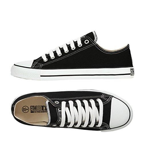 Ethletic Sneaker vegan LoCut - Farbe jet black / white aus Bio-Baumwolle - low Sneaker