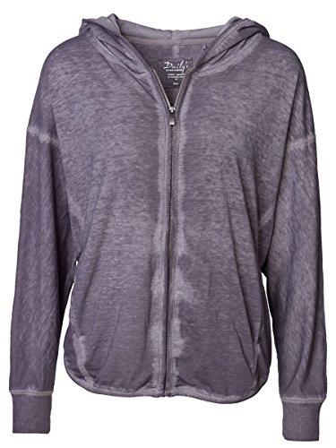DAILY'S KALLIE Damen oversize Sweatjacke aus Baumwolle und Polyester - fair & vegan - loft / grau