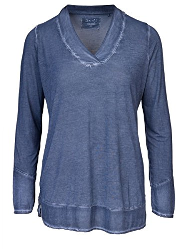 DAILY'S KIM Damen oversize Blusenshirt mit V-Ausschnitt aus 100% Viskose - midnight