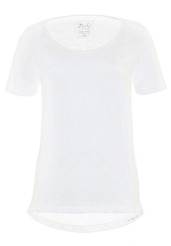 DAILY'S AMIE Damen oversize, basic T-Shirt mit Rundhalsausschnitt aus 100% Bio-Baumwolle - weiß