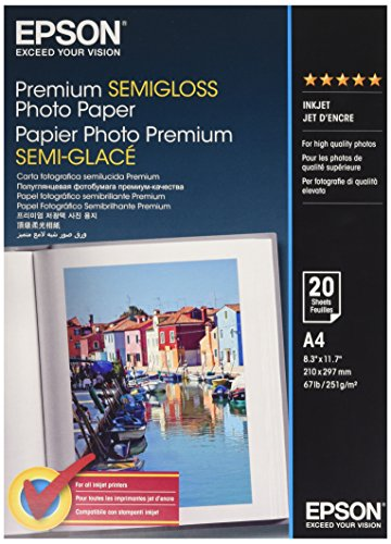 Epson Premium seidenglanz / halbglanz Fotopapier - Inkjet 251g/m2 A4 20 Blatt - C13S041332