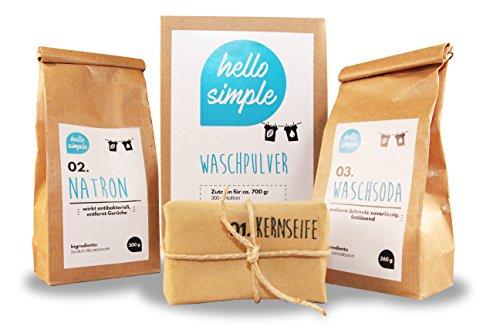 DIY Waschpulver zum Selbermachen (700g) - Olivenöl von hello simple