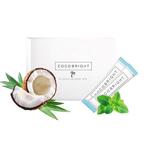 COCOBRIGHT | 14 Tage Oil Pulling Kokosnuss Öl Detox Kur - Pfefferminz Geschmack - Zahnöl