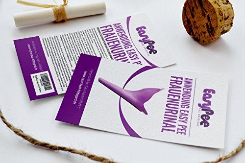 EasyPee Frauenurinal für unterwegs - Stehpinkler inkl. Beutel - Frauen pinkeln im Stehen - Pinkelhilfe - 3
