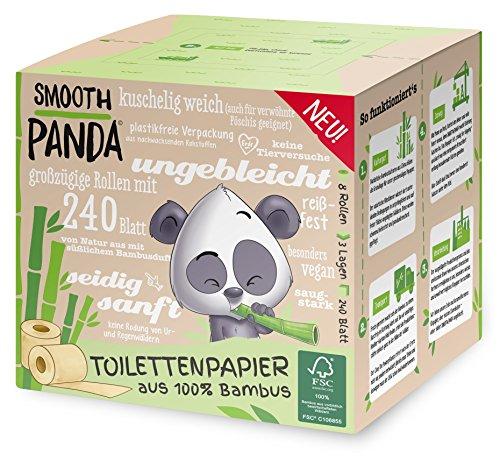 Smooth Panda - Toilettenpapier aus Bambus ohne Plastik - 8x200 Blatt