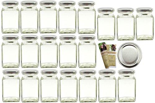 24er Set Einmachgläser 260 ml incl. Blueseal Twist-Off-Deckel