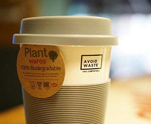 avoid waste - ECO Kaffeebecher to go, kompostierbar. Becher to go aus pflanzlichem Material (PLA). BPA frei und umweltfreundlich. - 6