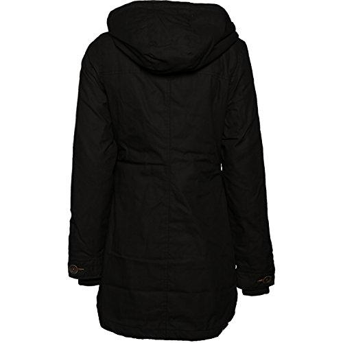 Ragwear Damen Mantel Wintermantel Winterparka YM-Jane (vegan hergestellt) Schwarz Gr. L - 4