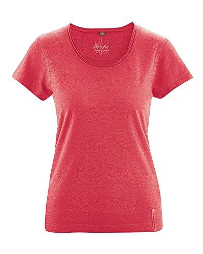 HempAge Breeze - Damen T-Shirt aus Bio-Baumwolle und Hanf - rot