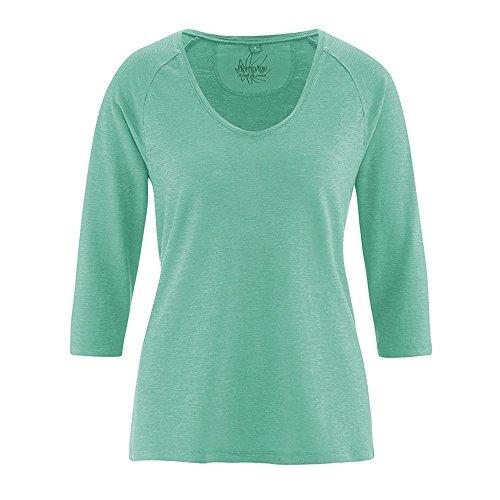HempAge Damen Raglan-Shirt aus Hanf und Bio-Baumwolle