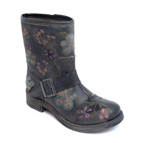 Nae Saka - vegane Damen-Stiefel / Boots - grau