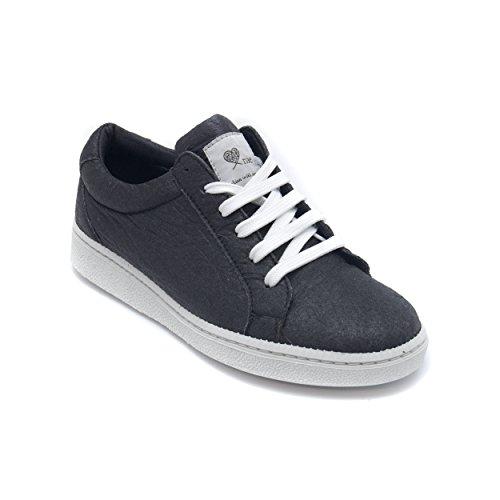 NAE Basic Schwarz - vegane Sneaker aus Ananas-Blattfasern - unisex
