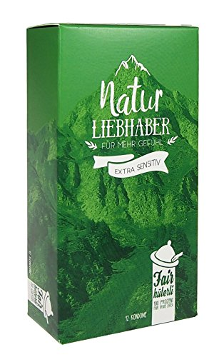 Fairhüterli - Naturliebhaber - 12 vegane Kondome aus Fair Trade Latex, extra sensitiv