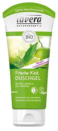 lavera Frische Kick Duschgel Bio Limone - 4 x 200 ml