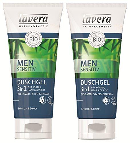 lavera Duschgel 3in1 Men Sensitiv - Körper, Haar und Gesicht - 2 x 200ml