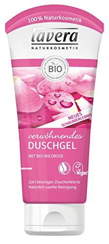 lavera verwöhnendes Duschgel Bio Wildrose 4 x 200ml