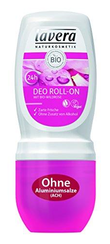 lavera Deo Roll On 24h Bio Wildrose - Deodorant ohne Aluminium