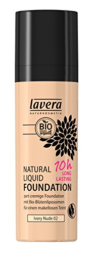 lavera Natural Liquid Foundation Makeup - Ivory Nude Hautfarbe - 30ml