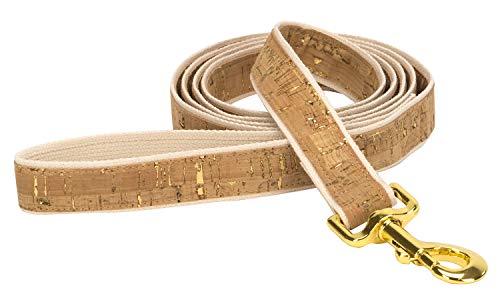 4 Nooks - Vegane Design-Hundeleine aus Baumwolle und Kork mit Gold