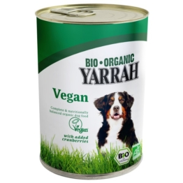 Yarrah Hundefutter Bio Bröckchen VEGA mit Cranberries 24x380g